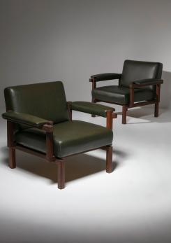 Compasso - Pair of Lounge Chairs by Raffaella Crespi for Elam