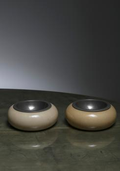 Compasso - Pair of Ashtrays by Aldo Tura