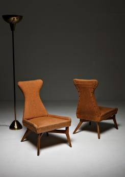 Compasso - Pair of Side Chairs by Silvio Cavatorta