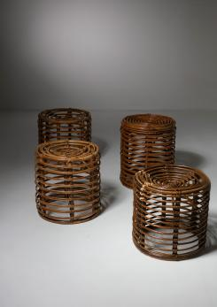 Compasso - Set of Four Wicker Stools