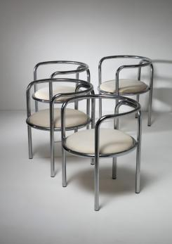 "Compasso - Set of Four ""Locus Solus"" Armchairs by Gae Aulenti for Poltronova"