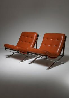 "Compasso - Pair of ""Lotus"" Lounge Chairs by Ico Parisi for MIM"