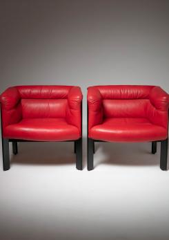 "Compasso - Pair of ""Interlude"" Chairs by Marco Zanuso for Poltrona Frau"