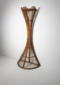 Compasso - Wicker Coat Stand by Tito Agnoli for Bonacina