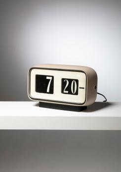"Compasso - ""Cifra 5"" Desk clock by Gino Valle for Solari"