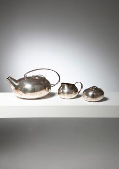 "Compasso - ""Boule"" Tea Set by Lino Sabattini for Christofle"