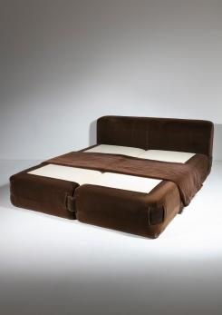 "Compasso - ""932"" Double Bed by Mario Bellini for Cassina"