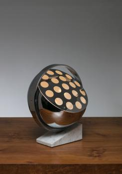 "Compasso - ""Rei"" Chrome Table Lamp by G. Fantinato per Febo Luce"