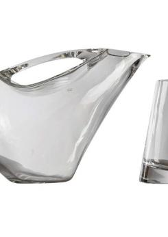 Compasso - Crystal Pitcher and Glasses by Angelo Mangiarotti