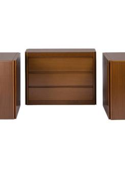 "Compasso - Set of Three ""4D"" Storage System by Mangiarotti for Molteni"