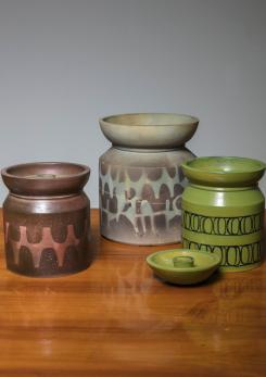 Compasso - Set of Three Italian 60s ceramic Vases