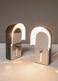 "Compasso - Set of Two ""Pala"" Bedside Lamps by Corrado and Luigi Aroldi for Luci"