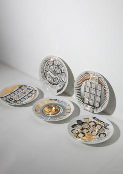 Compasso - Unique Set of 23 Calendar Plates by Piero Fornasetti