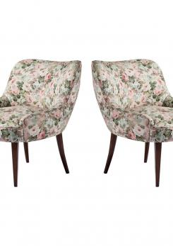 Compasso - Pair of Italian 1950s Club Chairs