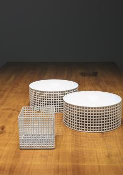 Compasso - Set of Three Centerpieces by Josef Hoffmann for Bieffeplast