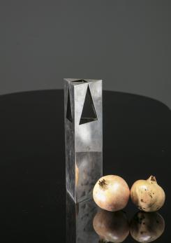 Compasso - Silver Plate Vase by Franco Grignani for Bacci
