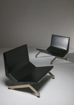 Compasso - Pair of Lounge Chairs by Gianni Moscatelli for Formanova