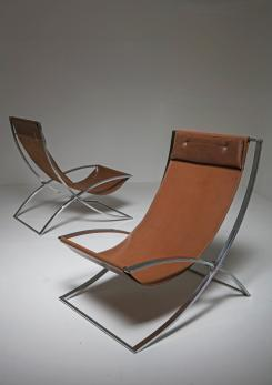 Compasso - Pair of Lounge Chairs by Marcello Cuneo for Mobel