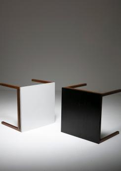Compasso - Set of Two Side Tables by Florence Knoll for Knoll