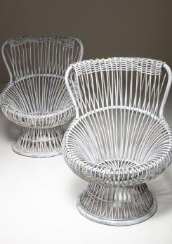 "Compasso - Pair of ""Margherita"" Chairs by Franco Albini for Bonacina"