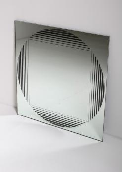 "Compasso - ""Brama"" Wall Mirror by Gianni Celada for Fontana Arte"