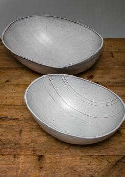 Compasso - Rare Set of Two Ceramic Bowls by Alessio Tasca