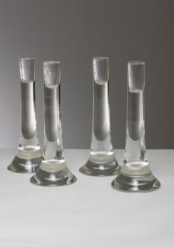 Compasso - Set of Four Candle Holders by Antonio Da Ros for Cenedese