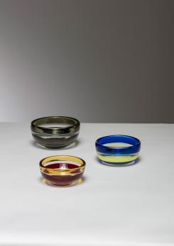 Compasso - Rare Set of Three Bowls by Carlo Scarpa for Venini