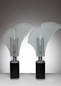 "Compasso - Rare Pair of  ""Mezzo Alfiere"" Table Lamps by Carla Venosta for Quattrifolio"
