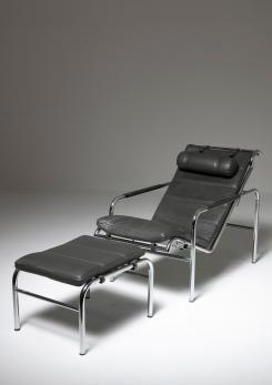 "Compasso - ""Genni"" Chaise Longue by Gabriele Mucchi for Zanotta"