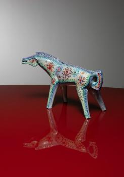 Compasso - Ceramic Horse Sculpture by Alvino Bagni for Bitossi