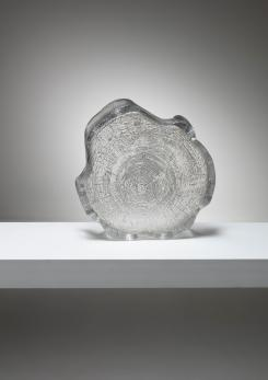 Compasso - Crystal Bowl by Bengt Edenfalk for Skrufs Glasbruk