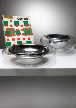 Compasso - Set of Two Crystal Bowls by Eleonore Peduzzi Riva for Vistosi