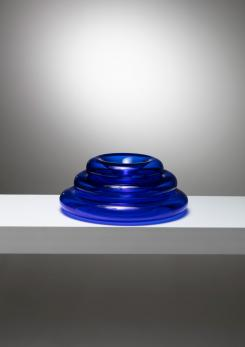 "Compasso - ""Pomeri"" Blue Glass Centerpieces by Eleonore Peduzzi Riva for Vistosi"