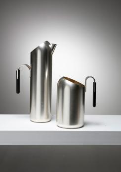 Compasso - Pair of Italian 60s Silver Plate Pitchers