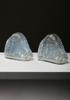 "Compasso - Pair of ""Iceberg"" Table Lamps by Carlo Nason for Mazzega"