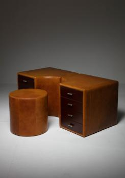 Compasso - Set of Two Chest of Drawers and Stools by Guido Faleschini for I 4 Mariani