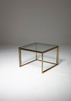 Compasso - Pair of Brass Nesting Tables