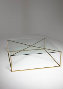 Compasso - Large Italian 60s Brass Low Table