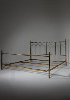 Compasso - Brass Bed Frame by Beppe Bartesaghi