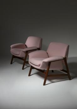 Compasso - Pair of Armchairs by Gianfranco Frattini for Cassina