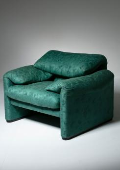 "Compasso - ""Maralunga"" Lounge Chair by Vico Magistretti for Cassina"