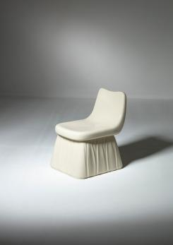 Compasso - Vitreous-China Chair by Giovanni Gariboldi for San Cristoforo - Ginori