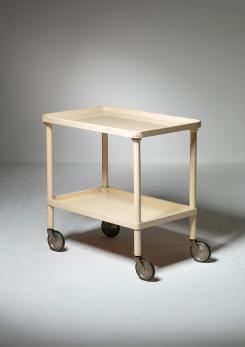 Compasso - Italian 60s wood cart designed by  Beppe Bartesaghi