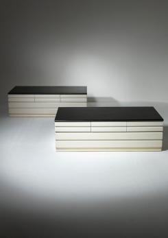 "Compasso - Pair of ""Samarcanda"" Chest of Drawers by Vico Magistretti for Poggi"