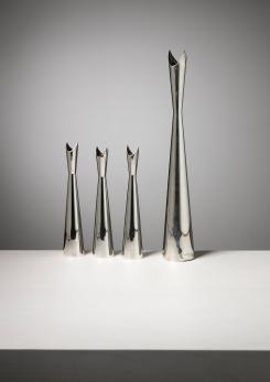 "Compasso - Set of Four ""Cardinale"" Vases by Lino Sabattini for Christofle"