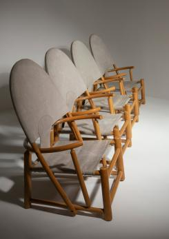 "Compasso - Rare Set of 4 Lounge Chairs ""G23"" by Toffoloni and Palange for Germa"