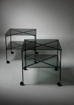"Compasso - Pair of ""Biplano"" Carts by Bruno Munari for Robots"