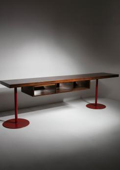 Compasso - Italian 1960s Large Wood Desk