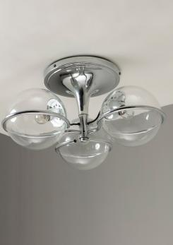 Compasso - Chandelier Model 2042/3 By Gino Sarfatti For Arteluce